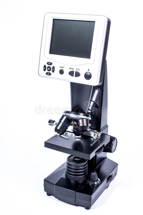 Free Digital Microscope On White Stock Image - 67038301