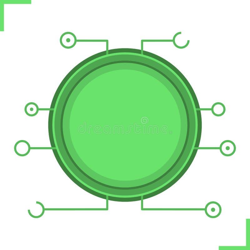 Digital-Mikrochiprahmen vektor abbildung