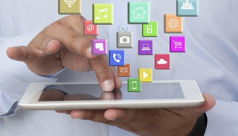Digital minnestavla och Apps royaltyfri bild