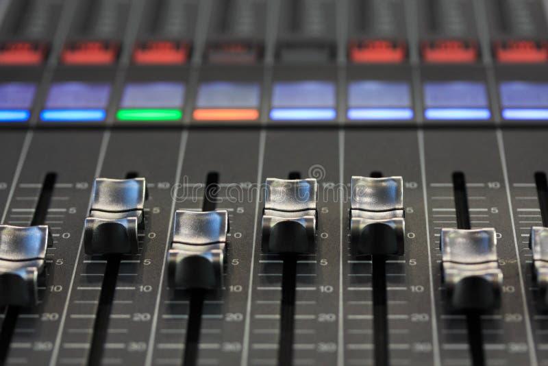 Digital mixing console stock photos