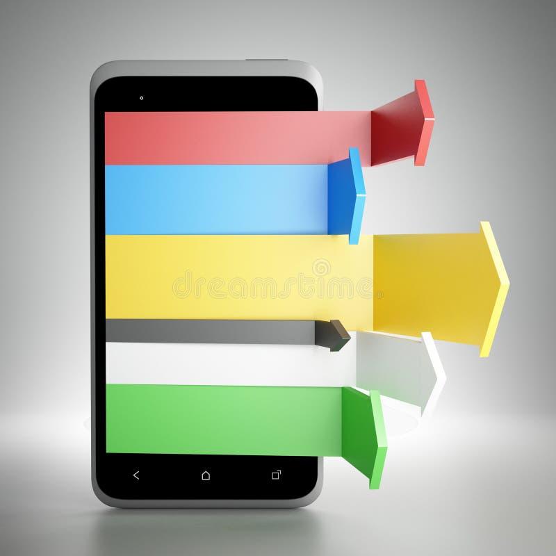 Digital mobil marknadsföring royaltyfria bilder
