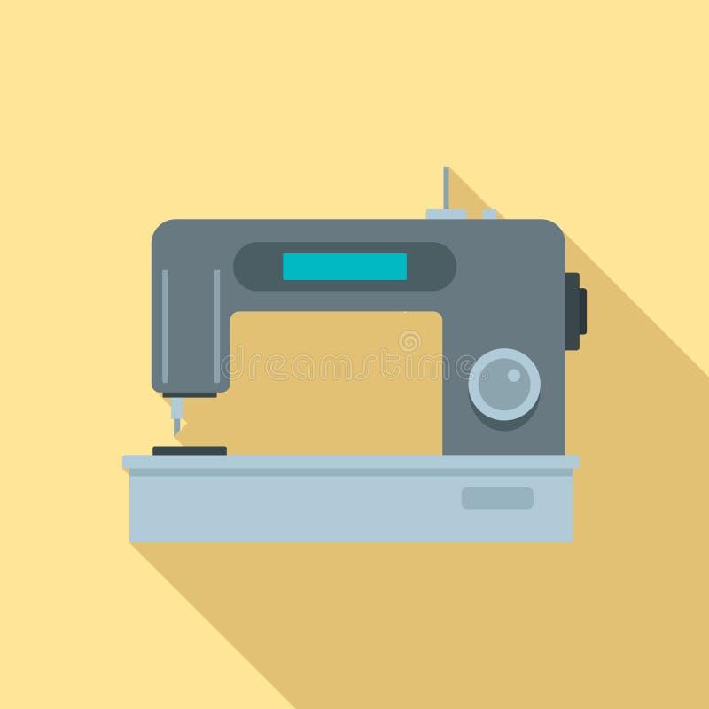 Digital modern sew machine icon, flat style vector illustration