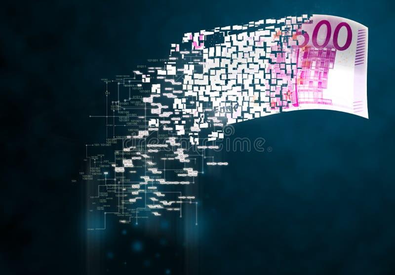 Digital money stock image