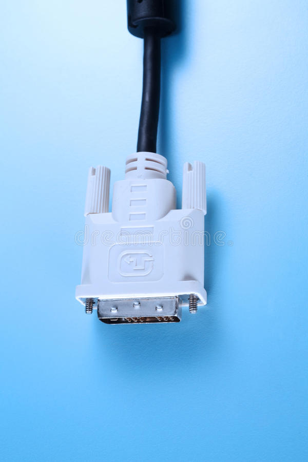 Download Digital monitor cable stock photo. Image of wired, black - 25876676