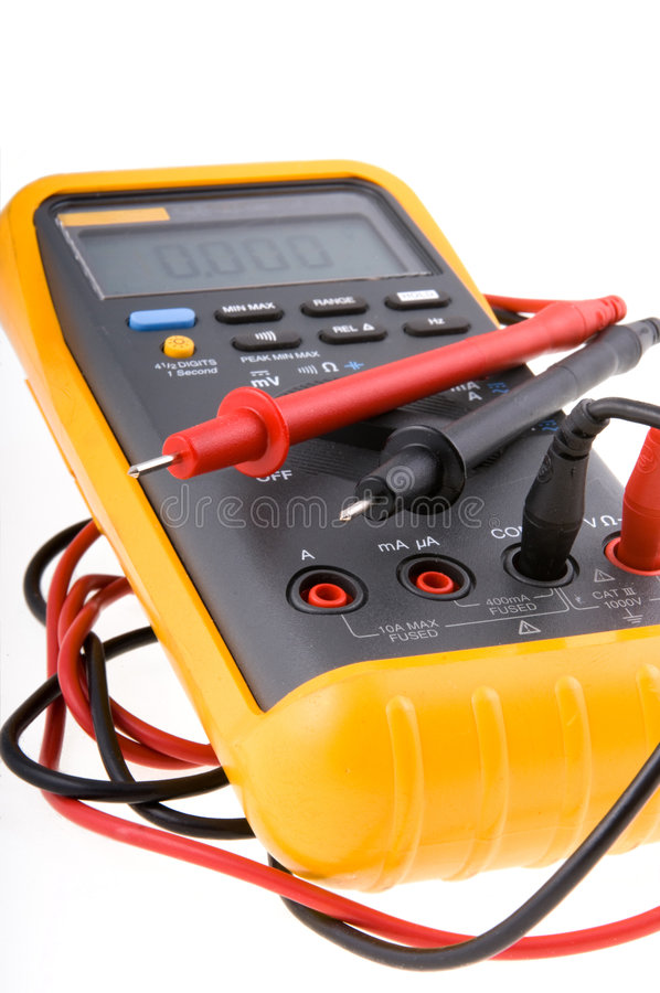 Download Digital Multimeter stock photo. Image of conductor, metric - 1023136
