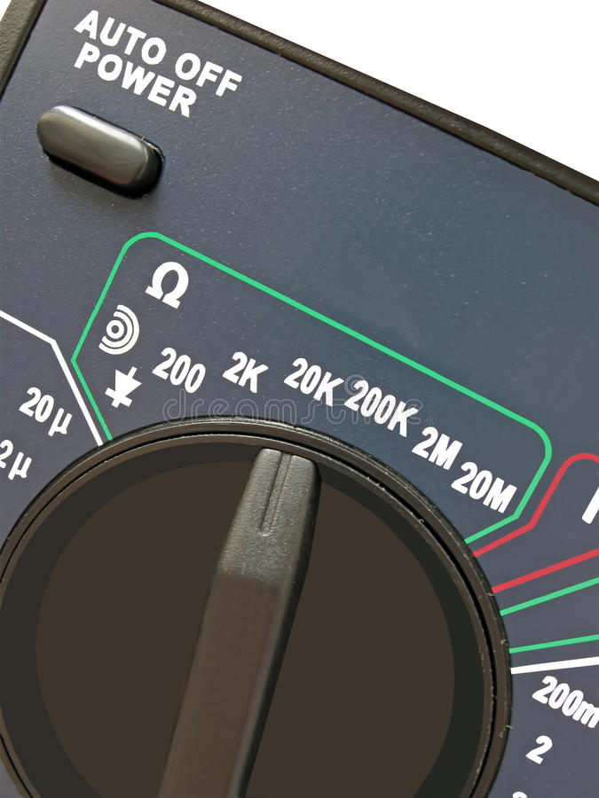 Digital multimeter, switch, different measurement royalty free stock images