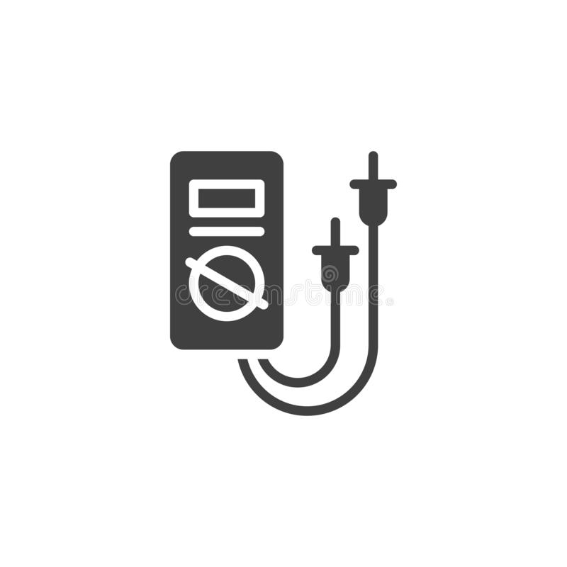 Digital Multimeter vector icon. Electric diagnostics filled flat sign for mobile concept and web design. Electric Voltmeter glyph icon. Symbol, logo royalty free illustration