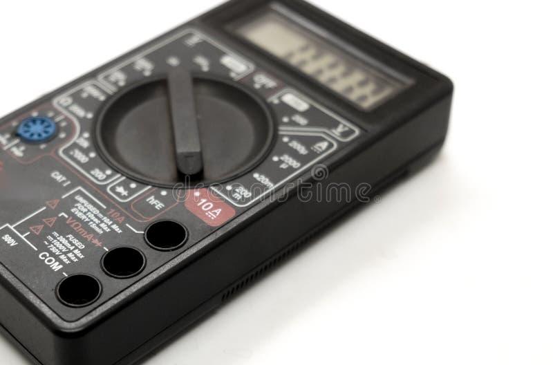 Digital multimeter wirelessly. Data center stock photo