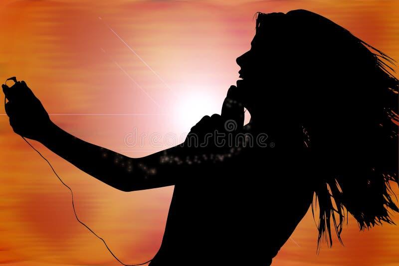 Digital Music Silhouette royalty free stock photos