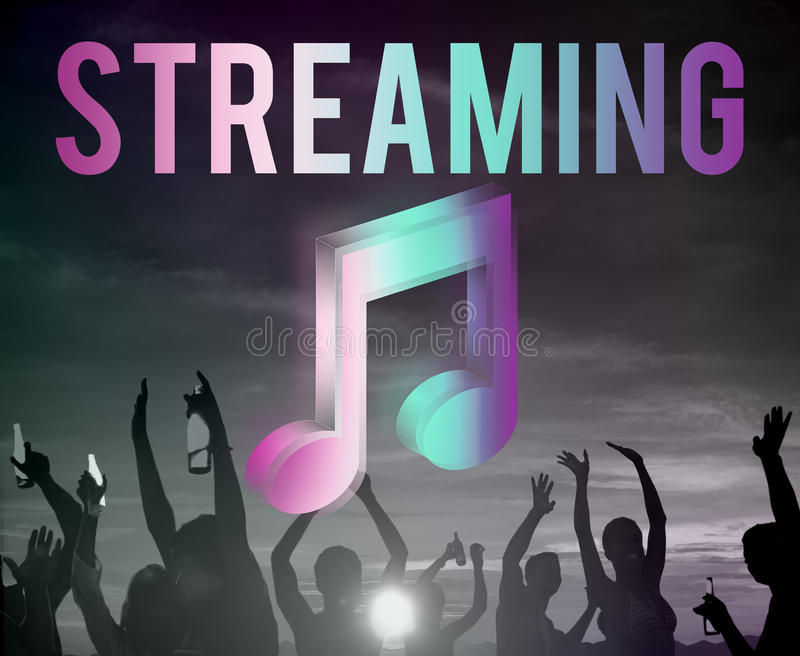 Digital Music Streaming Multimedia Entertainment Online Concept royalty free stock photos