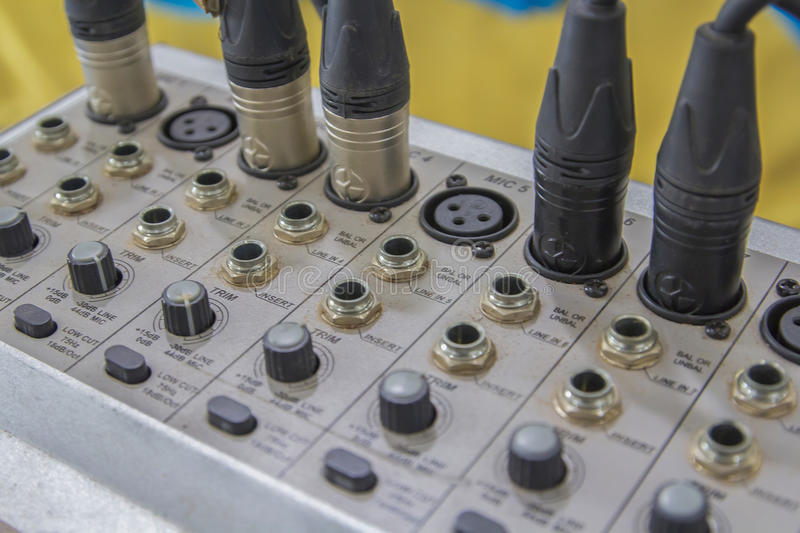 Digital music studio mixer Not clean in thailand royalty free stock photography