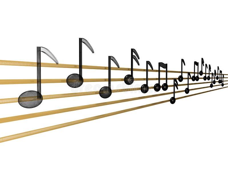 Digital-Musik stock abbildung