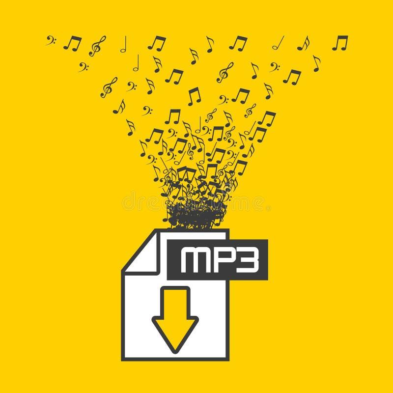 Digital-Musik lizenzfreie abbildung