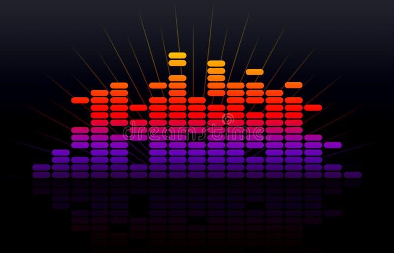 Digital-Musikentzerrer lizenzfreie abbildung