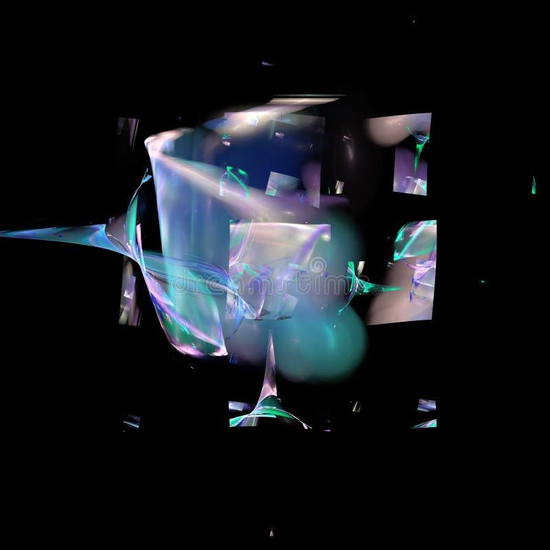 Digital-Neonfractal lizenzfreie abbildung