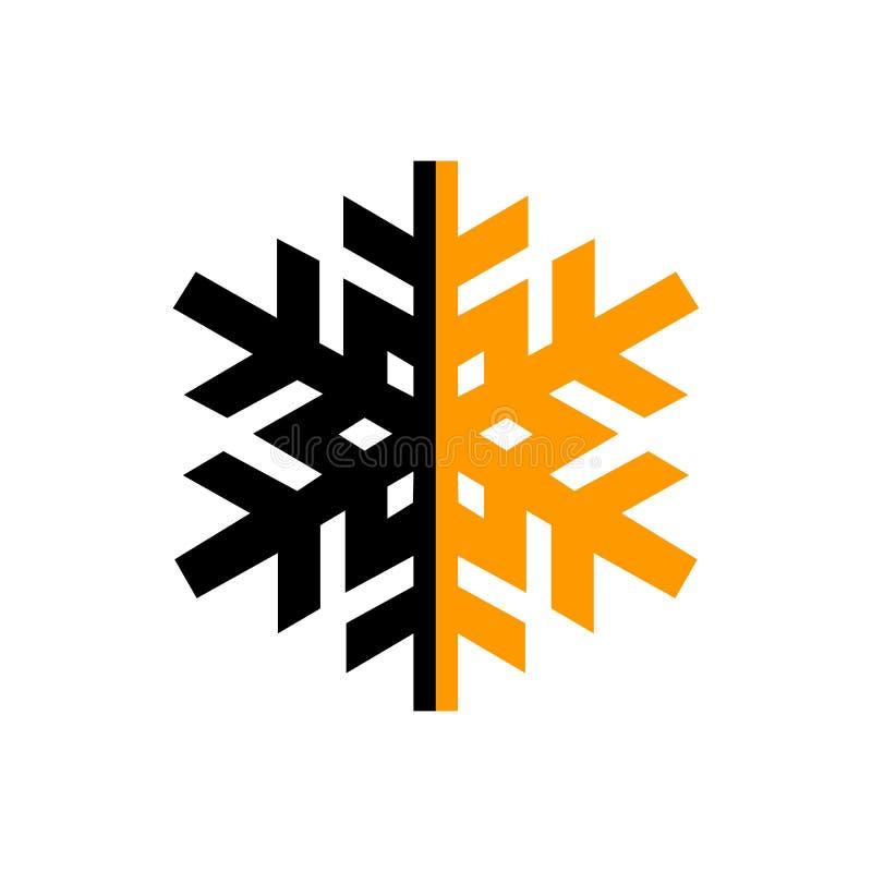 Digital nera e l'arancia hanno isolato il modello di logo del cerchio stilizzato illustrazione vettoriale