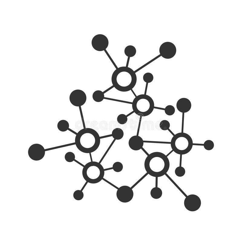 Digital data network connection illustration or molecular vector icon and logo. Digital network connection illustration or molecular vector icon and logo royalty free illustration