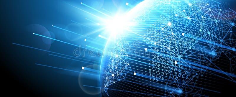 Digital network. Vector. Internet technology, Digital network background, World map point. Vector illustration vector illustration
