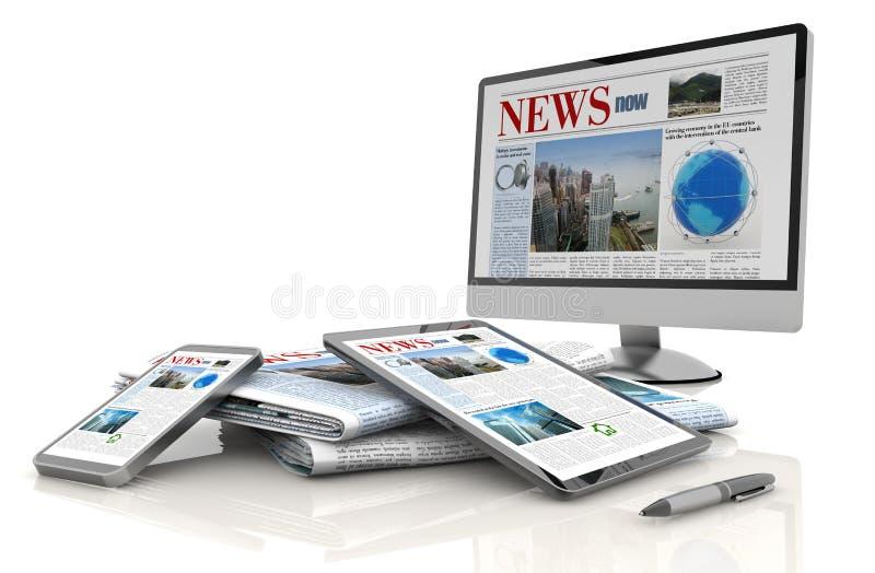 Digital news concept royalty free illustration