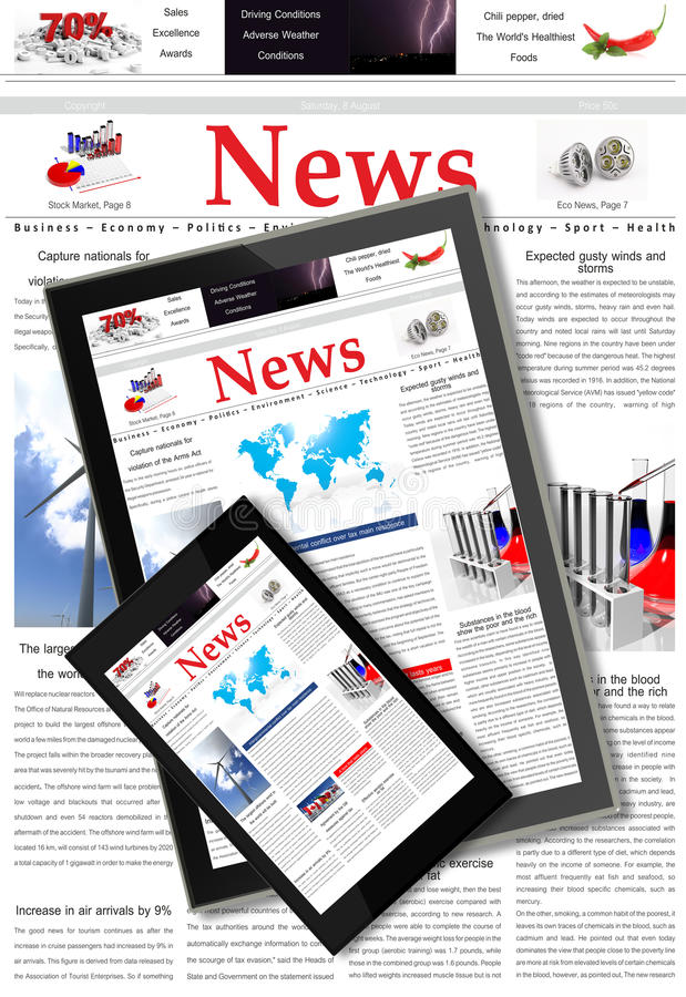 Digital news stock images