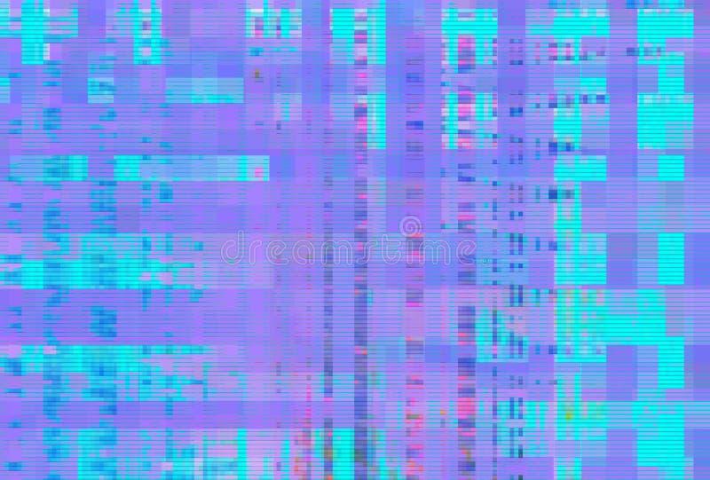Digital noise background glitch screen,  artifact. Digital noise background glitch screen purple pattern,  artifact vector illustration
