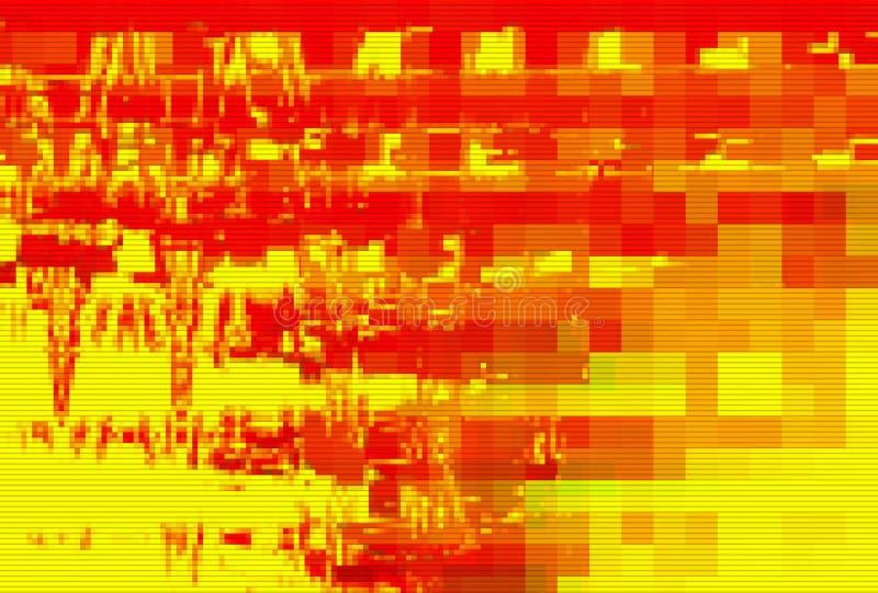 Digital noise background glitch screen,  technology data moshing. Digital noise background glitch screen red pattern,  technology data moshing royalty free illustration