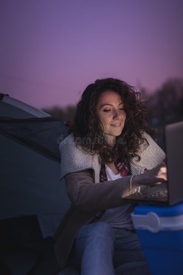 Digital nomad lifestyle stock photography
