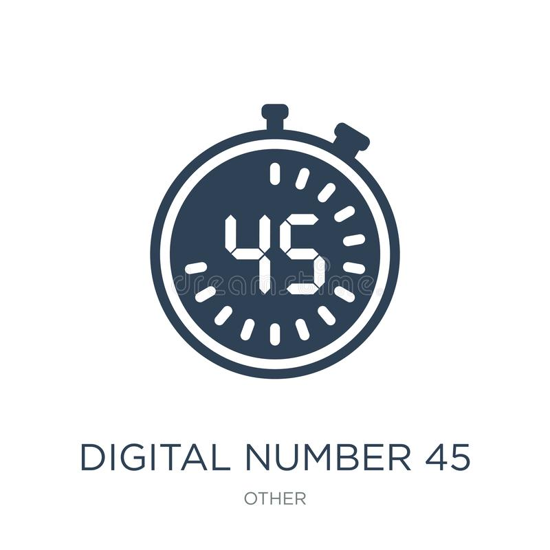 digital number 45 icon in trendy design style. digital number 45 icon isolated on white background. digital number 45 vector icon royalty free illustration