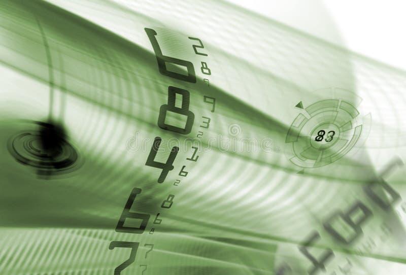 Digital numbers stock illustration