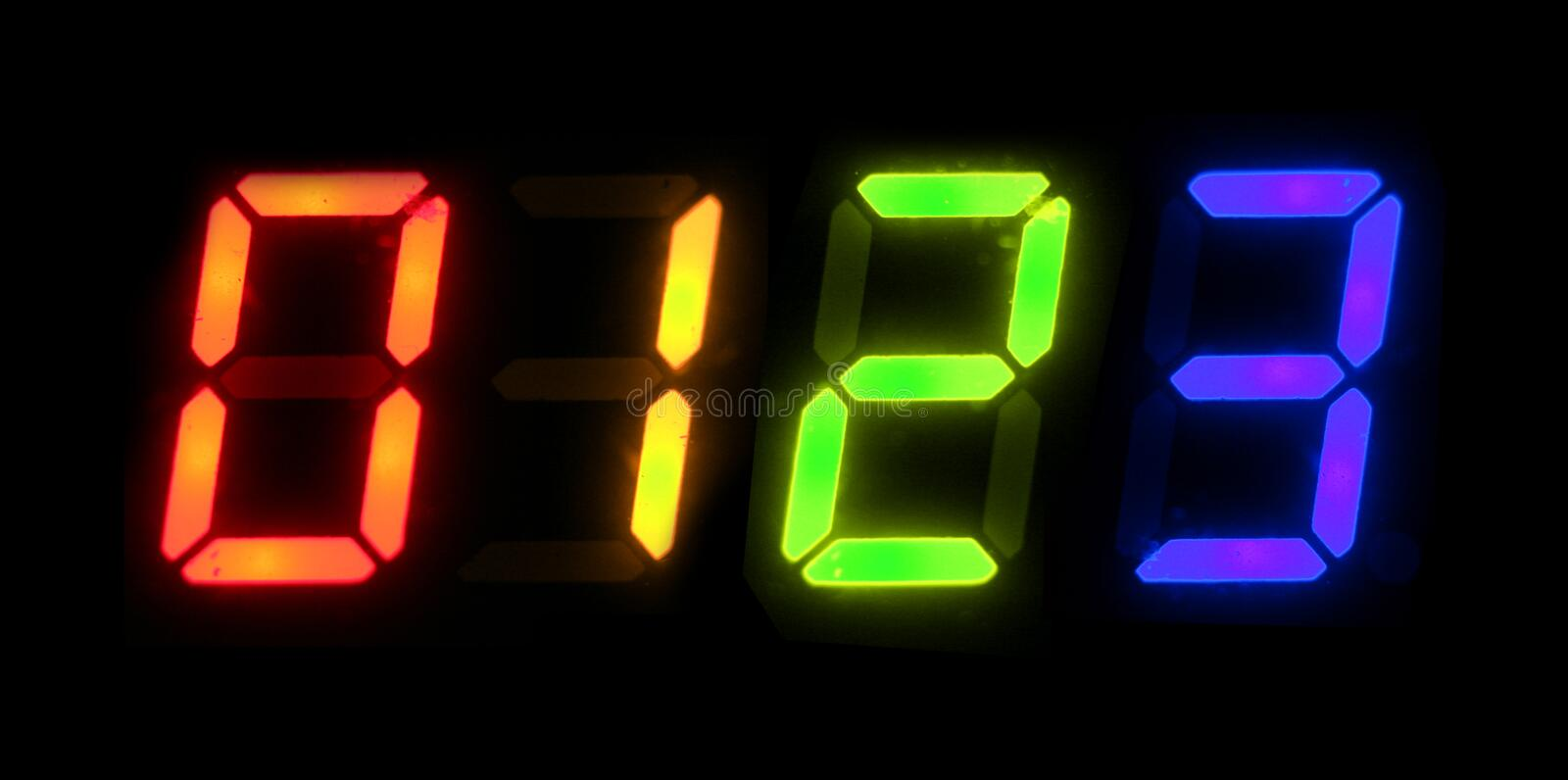 Digital Numbers Stock Photography