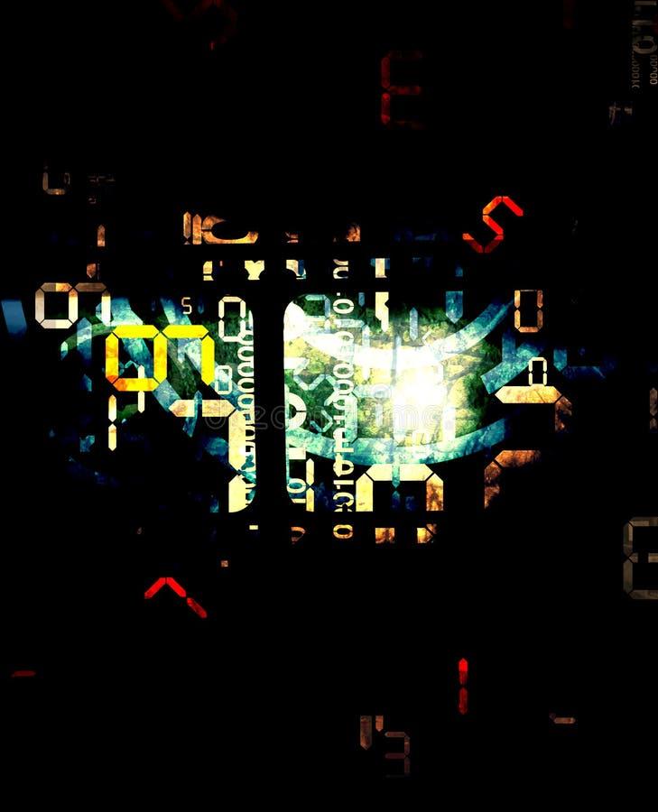 Digital numbers deep background. Deep Abstract background with digital numbers vector illustration