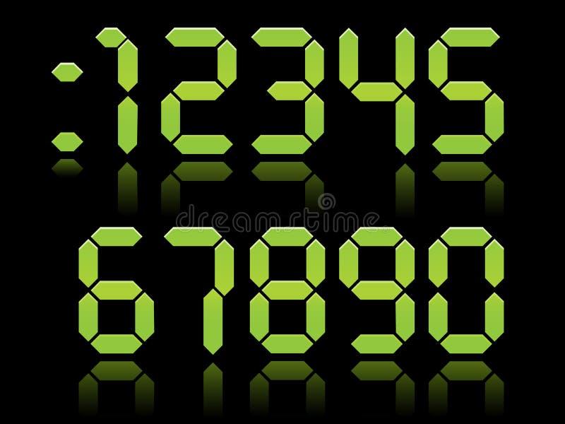 Download Digital Numbers EPS stock vector. Image of five, green - 15775457