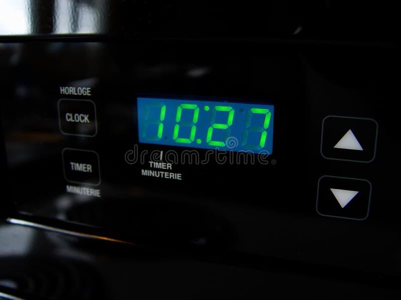 Digital-Ofen-Borduhr Stockbild