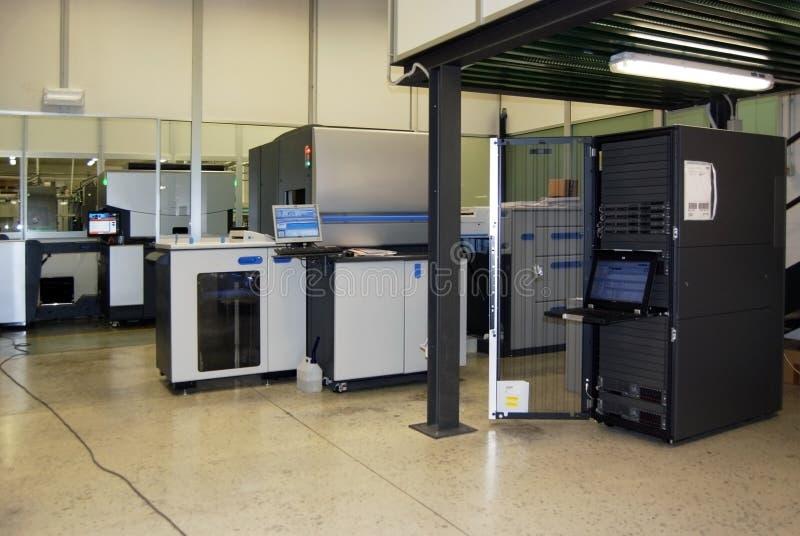 Digital offset printing - Four color press stock images