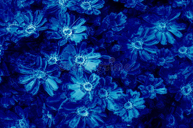 Download Digital Oil Painting Flowers On Tiles Stock Illustration - Image: 9805011