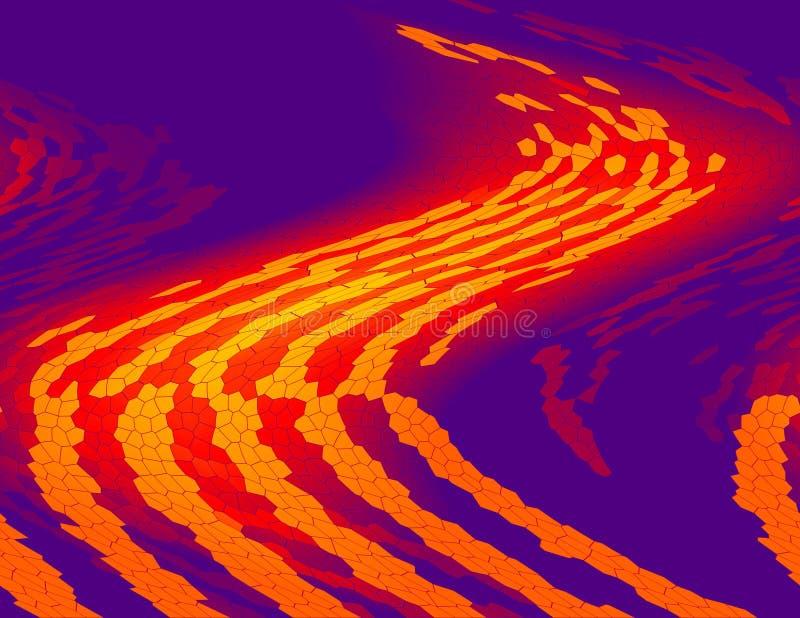 Digital-orange Pfad stock abbildung