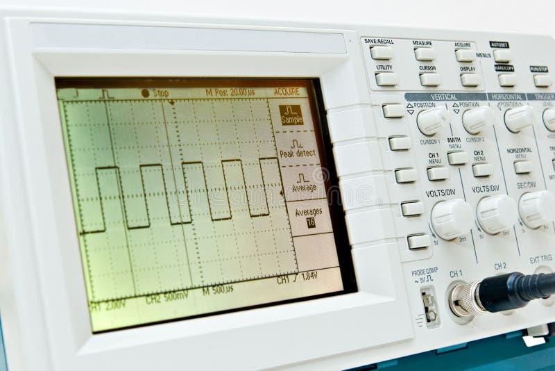 Digital oscilloscope royalty free stock images