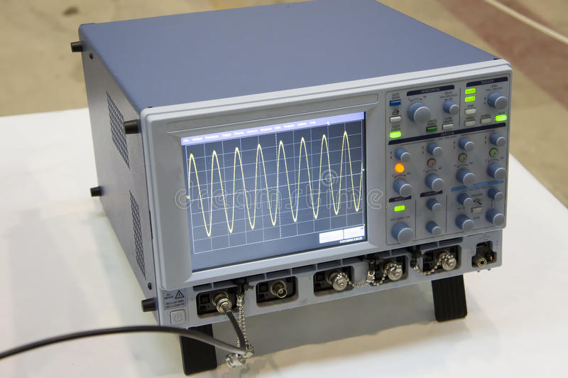 The digital oscilloscope. stock images