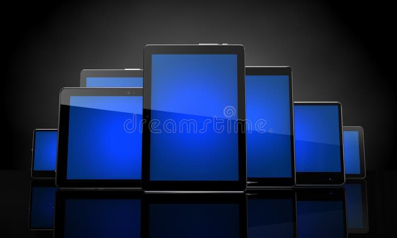 Download Digital pads stock illustration. Image of equipment, front - 21831123