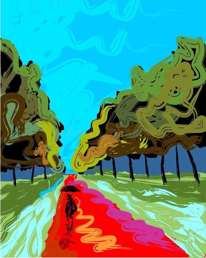 Digital painting royalty free illustration