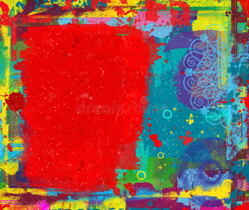 Digital painting. Grunge colorful abstract digital painting with space for your text vector illustration