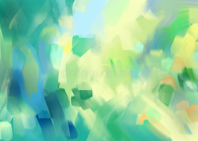 digital painting abstract background stock illustration