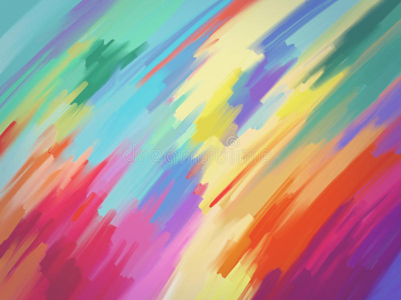 Digital painting abstract background vector illustration