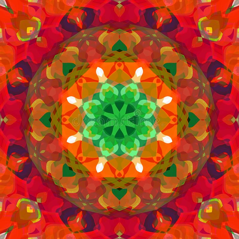 Digital Painting Abstract Colorful Floral Kaleidoscope Symmetrical Mandala Background vector illustration