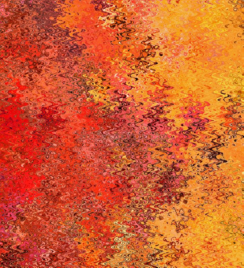 Digital Painting Abstract Multi-Color Chaotic Abstract Wavy Shapes in Different Shades of Flame Colors Background. Digital Painting Beautiful Abstract Multi royalty free illustration