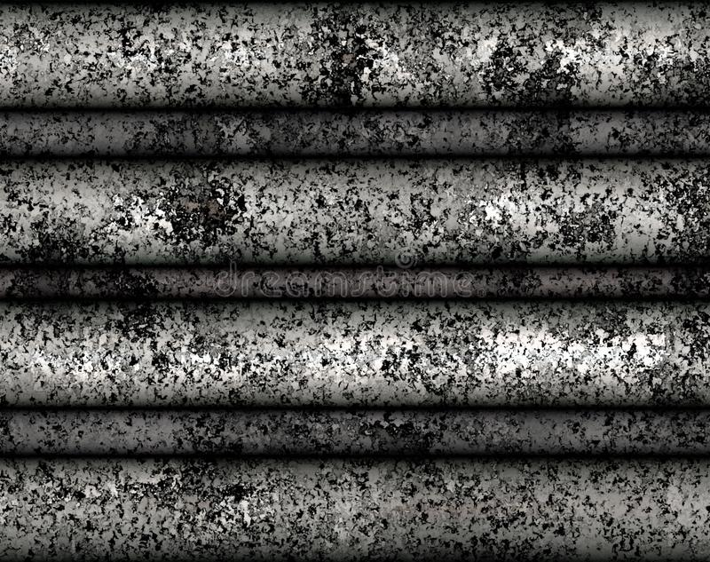 Digital Painting Rustic Metal Tile Texture with Silver Color Background stock images