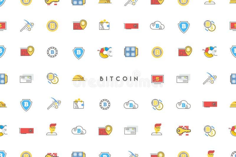 Digital pengar stock illustrationer