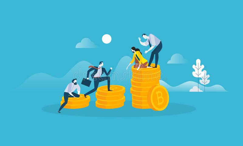 Digital pengarmarknad stock illustrationer