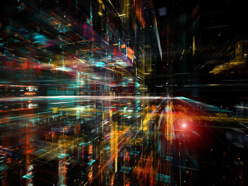 Acceleration av teknologi arkivfoto