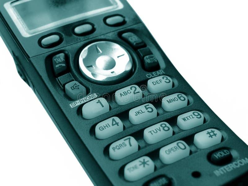 Digital Phone. Close-up of a handheld, wireless, digital phone stock image